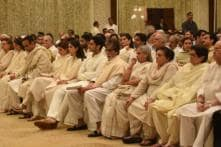 In Pics | Rajan Nanda Prayer Meet: Big B, Abhishek Bachchan, Karisma Kapoor & More in Attendance