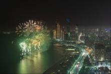 Spectacular Fireworks Made Saudi Arabia's Flag in the Air. See pics
