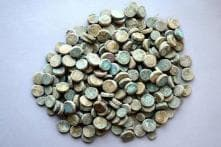 254 Copper Coins of Medieval Era Discovered at Khirki Mosque