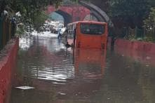 Heavy Rains Lash Delhi-NCR, 30 People Rescued as Bus Breaks Down on Flooded Road