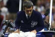 Chair Umpire Carlos Ramos Hands Marin Cilic Warning for Slamming Racquet