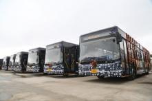 25 Low Floor JBM Smart Buses Flagged Off By Haryana CM Manohar Lal Khattar in Gurugram