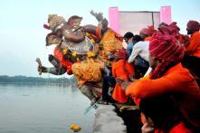 Ganesh Visarjan 2018: Devotees Bid Adieu to Lord Ganesha
