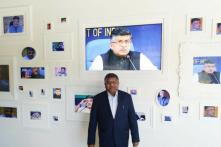 Ravi Shankar Prasad Has His Own Wall of Photos at Google Headquarters in California