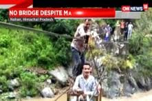 Himachal Pradesh Locals Risk Lives To Cross The River