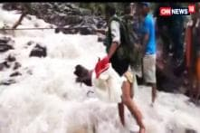 Kids Facing Difficulties Crossing River