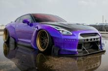 This Modified Nissan GT-R from ADV.1 Wheels Looks Like a Low Rider