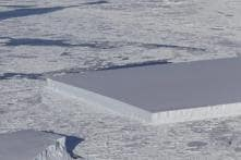 Is This Perfect Square Iceberg an Alien Apartment Complex or the World's Largest Ice Cube?