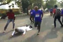 Watch: Karnataka Minister Trips and Falls While Running a Marathon in Dhoti