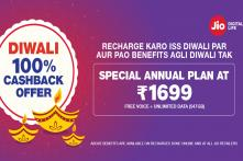 Reliance Jio Diwali Offer: Rs 1,699 Prepaid Plan With 1 Year Validity And 547GB Data