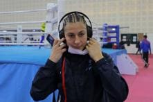Women Boxers Wear Masks, Scarves to Guard Against Smog at Indian Championship