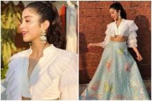 Janhvi Kapoor Makes Hearts Flutter at IFFI in Abu Jani-Sandeep Khosla's Blue Outfit