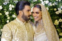 Ranveer & Deepika Look Very Much in Love at the Reception