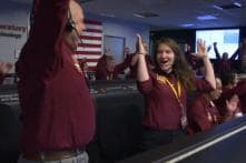 Mars Landing: NASA Employees Celebrate with Out of This World Handshake