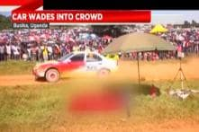 Car Loses Control Amidst Crowd in Race Event