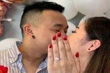Woman 'Nails' Engagement Photo with Sleight of Hand, Twitter Says Yes