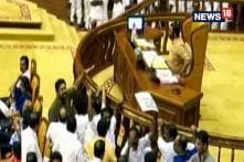 Kerala Congress MLAs Staged Protest In The Well Of The Assembly