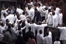 Watch: Sri Lankan Lawmakers Fight in Parliament Over PM Dispute, Dustbin Hurled at Speaker