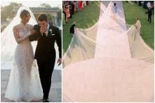 Unbelievable! Priyanka Chopra Walks the Aisle in 75 ft Long Veil at Her Christian Wedding