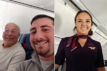 Father Spends Christmas With Flight Attendant Daughter in the Sky as She Had to Work Through the Holidays