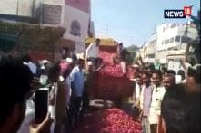 Two Farmers Dump Onion Produce As Prices Fell In Nashik