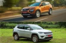 New Tata Harrier Vs Jeep Compass SUV Spec Comparison - Features, Engine and More