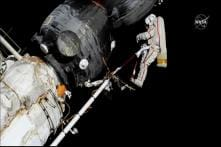 Russian Cosmonauts Take Sample of Mystery Hole at Space Station