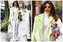 Unmissable! Priyanka Chopra and Her Pooch Diana Flaunt their Winter Street Style in NYC