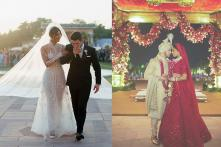 Priyanka Chopra-Nick Jonas Dressed in Colours of Love by Ralph Lauren & Sabyasachi at their Wedding
