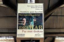 A Cleanliness Poster at a Railway Station Takes its Cue From 'Deewaar'