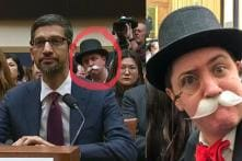 Google CEO Sundar Pichai Addresses Congress, but Monopoly Man Steals the Show