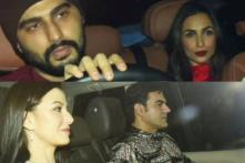 Malaika Twins with Arjun, Ex-Husband Arbaaz Poses with Girlfriend at Ritesh's Christmas Bash