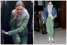 Gigi Hadid Looks Chic in a Garden Green Outfit on Streets of NYC