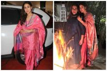 Sara Ali Khan Rocks Traditional Patiala at Sandeep Khosla's Lohri Celebration