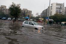 Delhi NCR's Incessant Rain Disrupts City Life; See Pictures