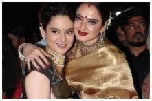 Rekha Calls Kangana Ranaut 'Her Daughter', Gifts Her a Sari