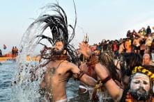 Kumbh Mela: Devotees Take First Holy Dip in River Ganga at Kumbh Mela