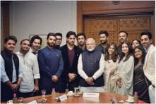 All Photos, Videos of Ranveer, Alia, Ranbir and Other Bollywood Stars from PM Modi's Delhi Meet