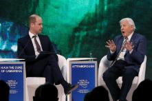 Prince William Turns Interviewer in Davos Appearance with David Attenborough