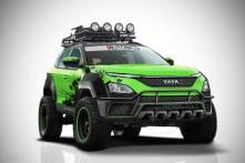 Marvel's Hulk Inspired Modified Tata Harrier SUV is an Off-Roading Monster