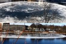 Earth's Fidget Spinner? Football Field Sized Ice Disk Forms in Middle of River