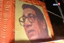 Mumbai Artist Creates Bal Thackeray Portrait With 33,000 Rudraksha Beads