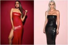 Sonakshi Sinha Rocks Smoking Red Latex Outfit Like Kardashians