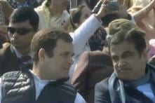 After 2018 Row, Rahul Gandhi Gets Front Row Seat Beside Gadkari at 70th Republic Day