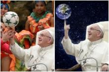 Pope Francis Twirled a Football on His Finger, Internet Turned it into Hilarious 'Photoshop Battle'