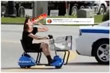 Crisp Innovation: Woman Banned from Walmart for Riding Around on Electric Scooter Sipping Wine from a Pringles Can