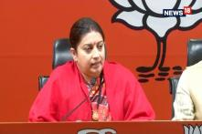 Smriti Irani Targets Gandhi-Vadra Family Over Corruption