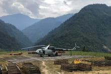 IAF Helicopters Airlift Material For Bridge Construction in Arunachal