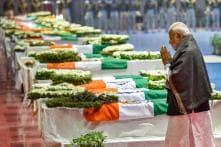 As Plane Carrying Jawans' Bodies Lands in Delhi, PM Modi, Rahul Gandhi Pay Last Respects to CRPF Men