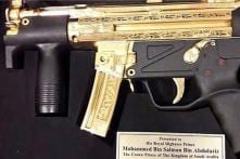 Saudi Crown Prince MBS Presented Gold-Plated Submachine Gun by Pakistan